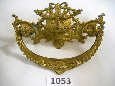Antique Figural Brass Face Pull (Lion?)
