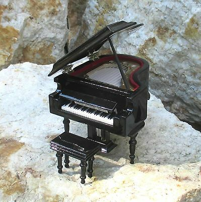 Spieluhr Love Story Music Miniature Grand Piano Piano with Box Piano stool Piano