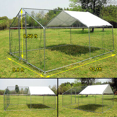 Wondrous 13X10 Ft Walk In Coop Chicken Run Backyard Hen House Poultry Rabbit Cage Cover Interior Design Ideas Clesiryabchikinfo