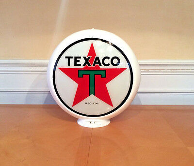 Texaco-Gas Pump Globe-Labeled Capcolite-Model No. 216-White Body-Signs