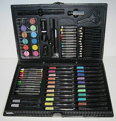 Vintage ARTBOX from Norm Thompson 68+ piece drawing, painting, pastels set