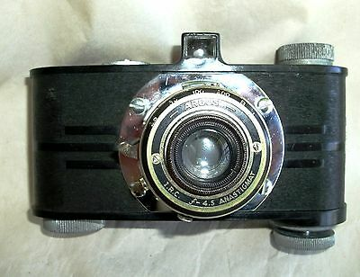 Argus A Black Vintage 35Mm Camera Anastigmat F/4.5 Lens Art Deco Styling 1930's