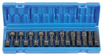 GREY PNEUMATIC CORP. 1/2Inch Drive 18 Piece Combo Hex Driver SAE/Metric Set GY15