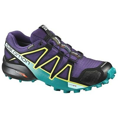 TRAIL RUNNING shoes Women's SALOMON SPEEDCROSS 4 GTX W Acai Deep