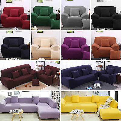 1/2/3/4 Seater Stretch Chair Sofa Covers Protector Couch Lounge Slipcover Lot