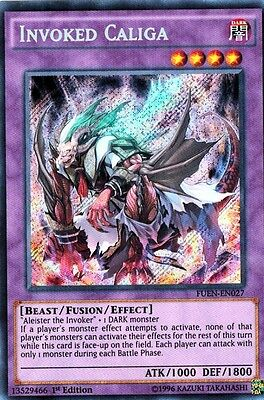 Invoked Caliga FUEN-EN027 X 3 *English* 1st  YUGIOH
