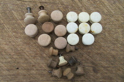 Vintage Lot of Assorted Wood Drawer Knobs or Pulls