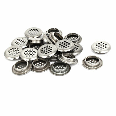 Household Stainless Steel Round Shaped Mesh Hole Air Vents Louver 29mm Dia 20pcs