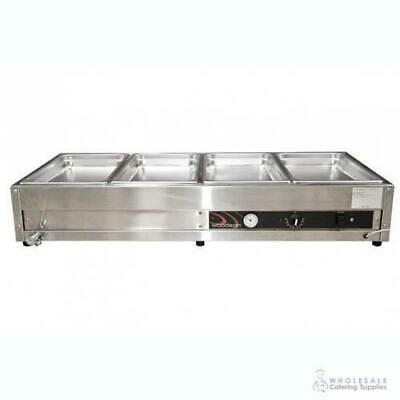 Bain Marie 4 Bay Benchtop Woodson W.BMA24 1355x600x245mm Warmer NO PANS INCLUDED