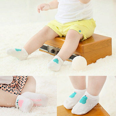 Apple and Pear Baby Boys and Girls Anti-Slip Socks