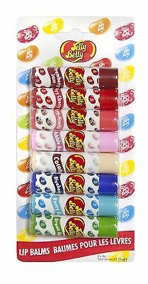 Jelly Belly Lip Balm, Party 8 Piece 100% GENUINE GUARANTEED