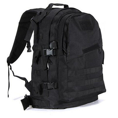 55L Military Tactical Backpack Hiking Camping Travel Outdoor Shoulder Bag Pack