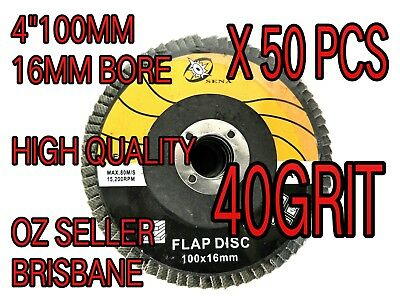 "50pc x 4"" 100mm FLAP WHEEL Metal SANDING GRINDING  FINISHING DISC ANGLE GRINDER"