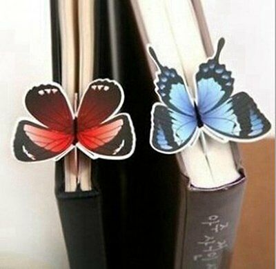 KitMax TM Pack of 24 Pcs Cute Butterfly Animals Shaped Bookmarks Book Note Pad