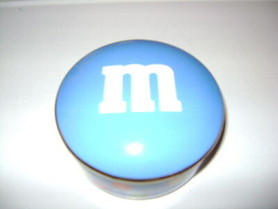 M&M's TIFFANY & CO. COVERED TRINKET BOX m&m CANDY DISH. MINT CONDITION GOLD TRIM