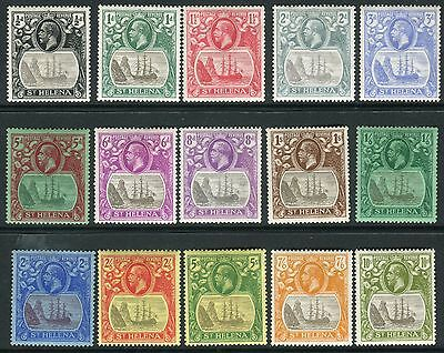 ST HELENA-1922-37  A lightly mounted mint Multi Script set to 10/- Sg 97-112