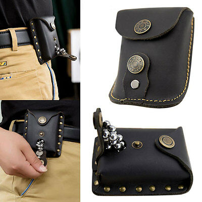 Genuine Leather Case Bag Pouch for Catapult Slingshot Steel Balls Ammo Games NEW