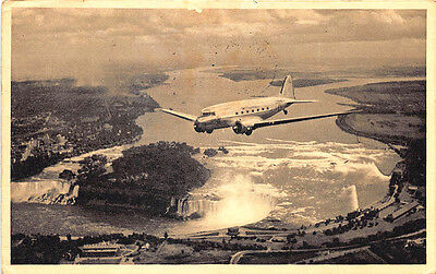 New York - Chicago American Airlines in Flight in 1941 Postcard