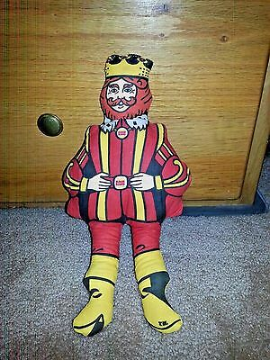 "Vintage 1970's Burger King Restaurant Plush Cloth Stuffed Doll 14"" Toy"