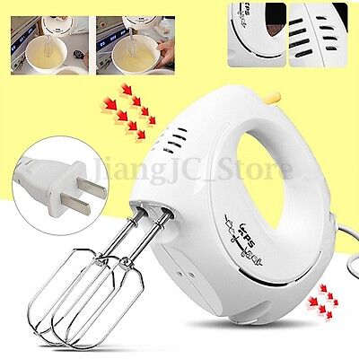 Electric Handheld Food Whisk Blender Home Kitchen Egg Cake  Dough Mixer Beater