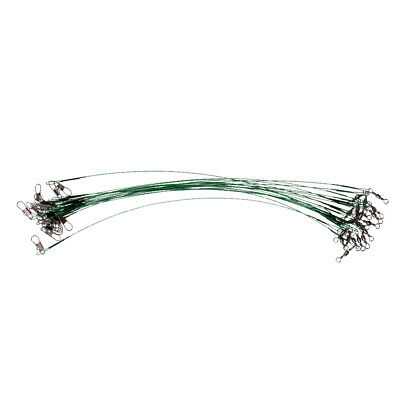 20 Pcs Coated Strong Trace Wires Leader Steel Pike Perch Sea Fishing Tackle