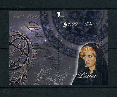 LIBERIA Wholesale Princess Diana Memoriam Min/Shts Veiled x 100 U/M CD 580