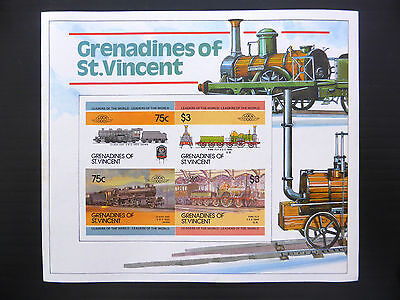 St VINCENT GRENADINES Wholesale Loco Railway Imperf M/Sheet x 50 U/M FP1180