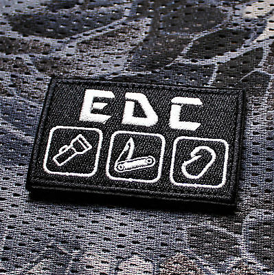 Aufnäher Patch Klett Urbex Every Day Carry Survival Tac Prepper EDC Airsoft SHTF