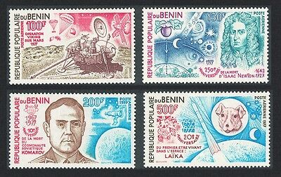 Benin Newton Komarow 'Viking' Laika Space Conquest Anniversaries 4v SG#679/82