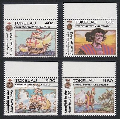 Tokelau 500th Anniversary of Discovery of America 4v with top margins SG#193/96