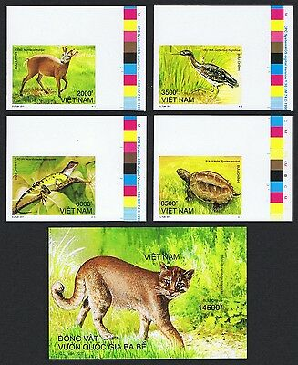 Vietnam Wild Animals 4v+MS Imperf Corners with Traffic Lights SUPERB