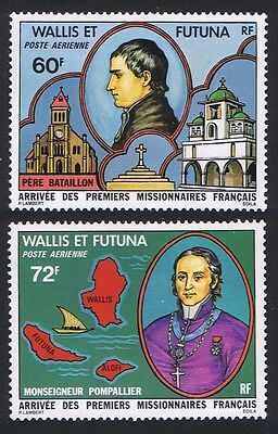 Wallis and Futuna Arrival of First French Missionaries 2v SG#284/85 SC#C80-C81