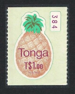 Tonga Pineapple Coil stamp Imperf Self-adhesive 1v T$1.00 Control number SG#689