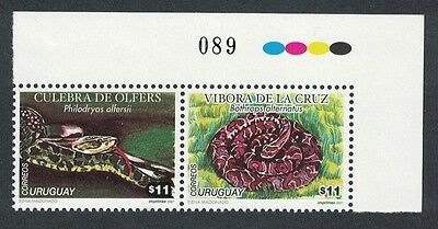 Uruguay Snakes 2v Corner pair Traffic Lights SG#2672/73