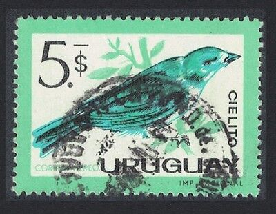 Uruguay Sayaca tanager Bird 1v $5 cancelled SG#1217 SC#C261