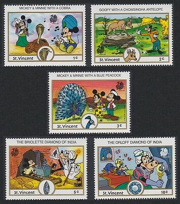 St. Vincent Disney 'India 89' Stamp Expo 5v SG#1169/73 SC#1132-26