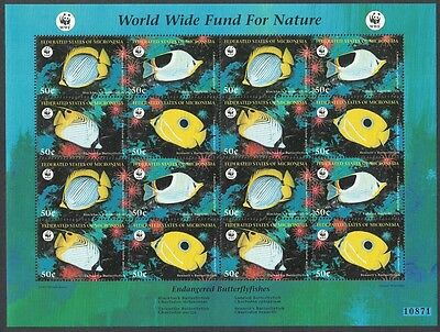 Micronesia WWF Butterflyfishes Sheetlet of 4 sets SG#579/82
