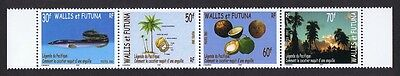 Wallis and Futuna Legends of the Pacific strip of 4v SG#832/35 MI#849-52