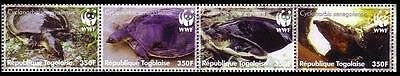 Togo WWF Senegal Flapshell Turtle Strip of 4v SC#2039a-d MI#3337-40