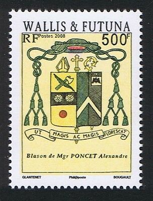 Wallis and Futuna Coat of Arms of Bishop Alexande Poncet 1v SG#947