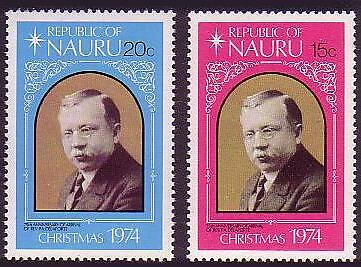 Nauru Christmas 2v issue 1974 SG#127/28