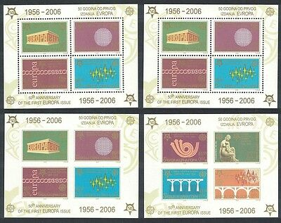 Serbia 50th Anniversary of Europa CEPT stamps 4 MSs SG#MS140