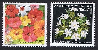 Wallis and Futuna Hibiscus Flowers Mothers' Day 2v SG#624/25 SC#445-46