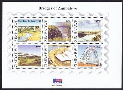 Zimbabwe Bridges of Zimbabwe MS SG#MS1202 MI#Block 18