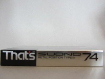 That's it SUONO 74 TYPE IV METAL (1x) SEALED CASSETTE TAPE FOR MASTER RECORDING