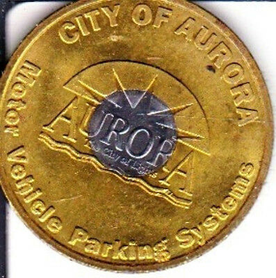 1 Hour City of Aurora City of Lights Parking Token Aurora, Illinois