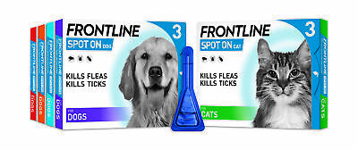 Frontline Spot On Flea, Tick & Lice Treatment (AVM-GSL) For S,M,L,XL Dogs & Cats