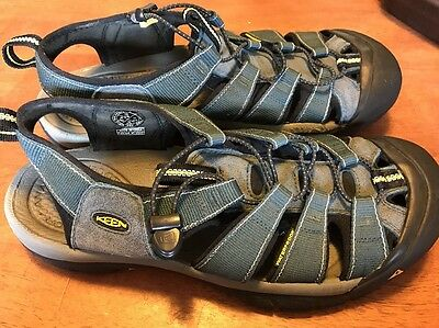 Keen Newport H2 Men US 12 Blue Sport Sandal Pre Owned  1001938