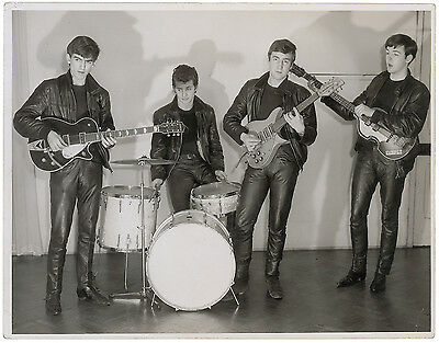 Beatles Signed Photograph: 1961 portrait of the original Fab Four's first shoot