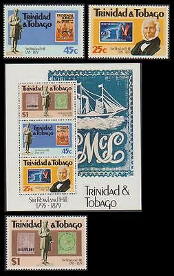 Trinidad and Tobago Death Centenary of Sir Rowland Hill 3v+MS SG#551/MS554